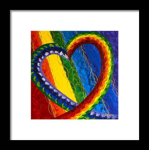 Chakras Framed Print featuring the painting I Am Love by Judy M Watts-Rohanna