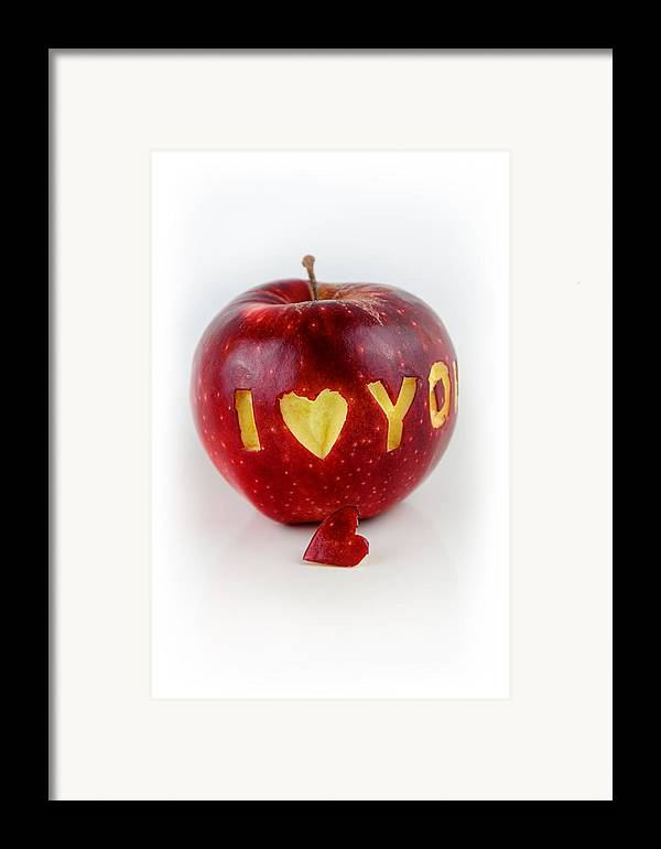 Love Framed Print featuring the photograph I Love You by Gynt
