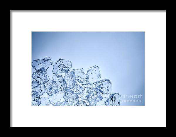 Water Framed Print featuring the photograph Ice Background With Copyspace by Pablo Romero