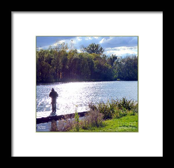 Landscape Framed Print featuring the photograph In The Warmth Of The Sun by Rennae Christman