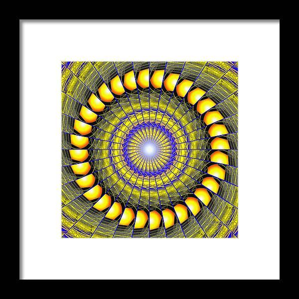 Sacredlife Mandalas Framed Print featuring the drawing Infinity Gateway Nine Kaleidoscope by Derek Gedney