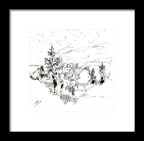 Nature Framed Print featuring the drawing Ink Sketch by Karina Plachetka