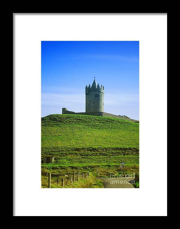 Ireland Framed Print featuring the photograph Irish Castle On Hill by Birgit Tyrrell
