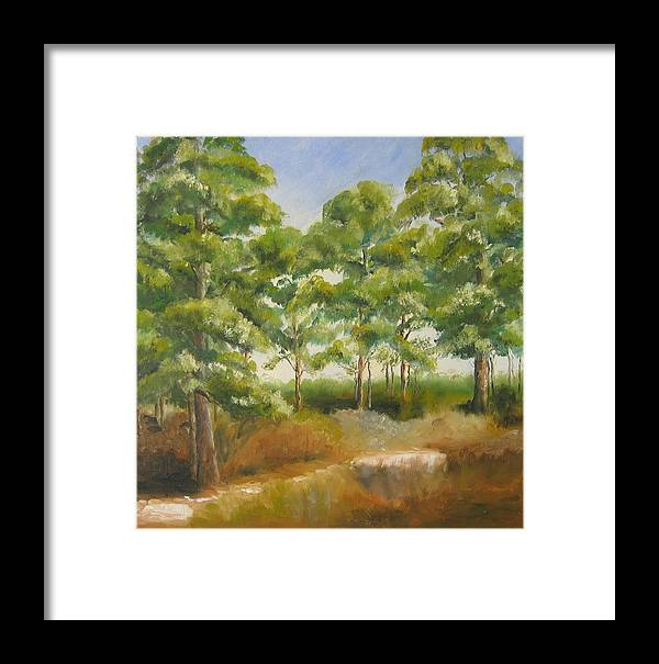 Pines Framed Print featuring the painting Island Pines by Susan Richardson