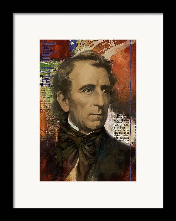 John Tyler Framed Print featuring the painting John Tyler by Corporate Art Task Force