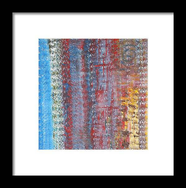 Abstract Framed Print featuring the painting Journey by Angela Bruno
