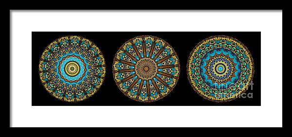 Fantasy Framed Print featuring the photograph Kaleidoscope Steampunk Series Triptych by Amy Cicconi