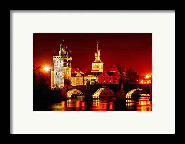 Prague Framed Print featuring the photograph Karluv Most by John Galbo