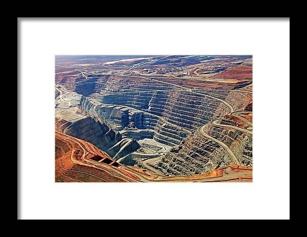 Mineral Framed Print featuring the photograph Kcgm. Gold Mine,western Australia by John W Banagan