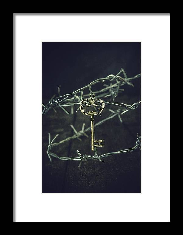 Wire Framed Print featuring the photograph Key Of A Treasure Chest by Joana Kruse