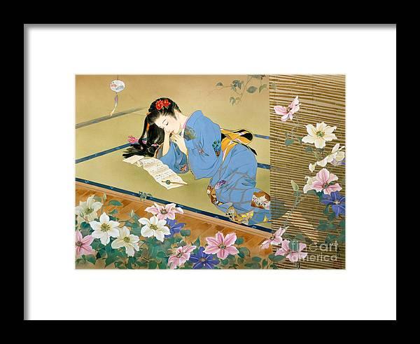 Haruyo Morita Digital Art Framed Print featuring the digital art Koibumi by MGL Meiklejohn Graphics Licensing