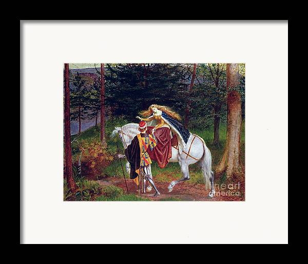 Horse Framed Print featuring the painting La Belle Dame Sans Merci by Walter Crane