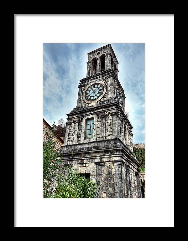 Architecture Framed Print featuring the photograph Lagadia - Greece by Constantinos Iliopoulos