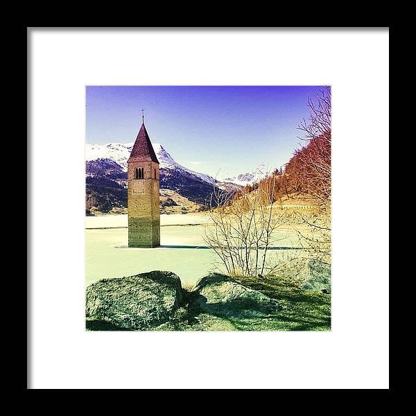 Beautiful Framed Print featuring the photograph Lago Di Resia - Alto Adige by Luisa Azzolini