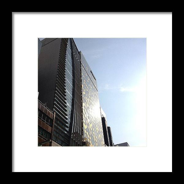 Landscape Framed Print featuring the photograph #landscape Ginza by Tokyo Sanpopo