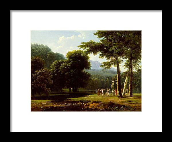Jean-victor Bertin Framed Print featuring the painting Landscape by Jean-Victor Bertin