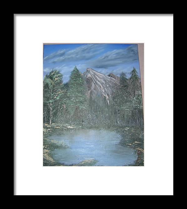 Landscapes Framed Print featuring the painting Landscapes by Majlinda Borisha