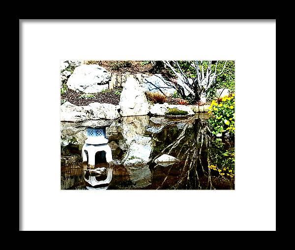 Photographs Framed Print featuring the photograph Stone Lantern by Nikki Dalton