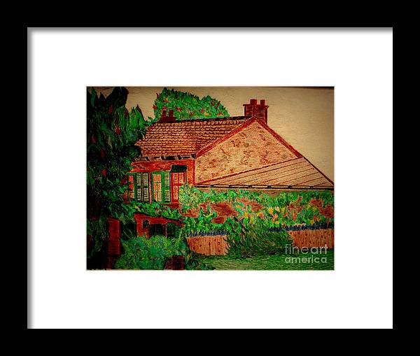 Bill O'connor Framed Print featuring the pastel Lapin Agile by Bill OConnor