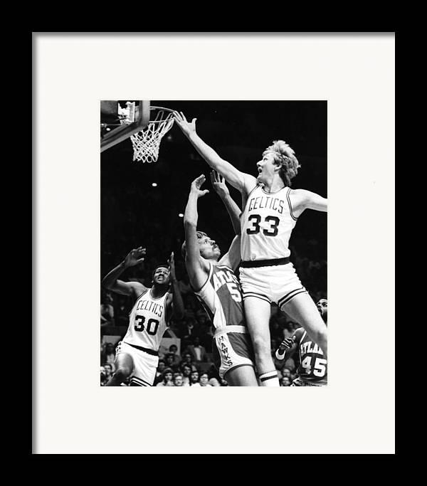 classic Framed Print featuring the photograph Larry Bird by Retro Images Archive