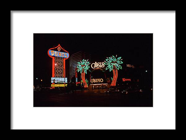 America Framed Print featuring the photograph Las Vegas 1983 #2 by Frank Romeo
