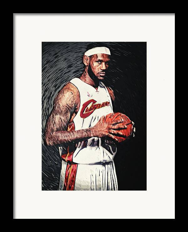 Lebron James Framed Print featuring the digital art Lebron James by Taylan Apukovska