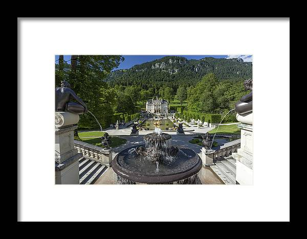Linderhof Framed Print featuring the photograph Linderhof And Royal Garden by Radka Linkova