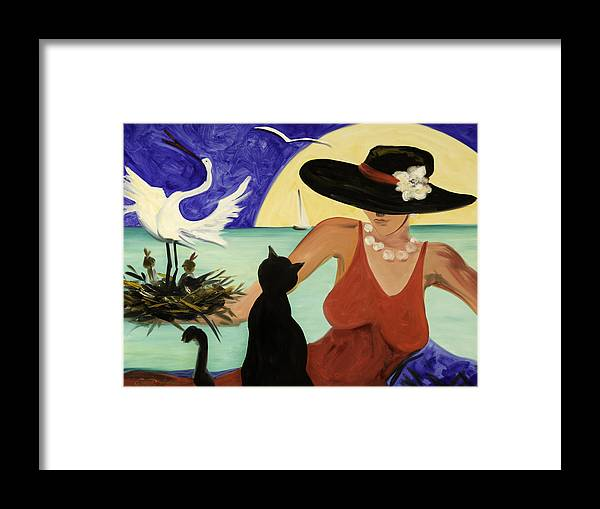 Colorful Art Framed Print featuring the painting Living The Dream by Gina De Gorna