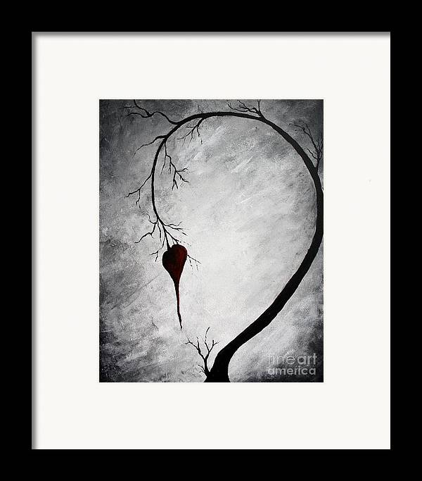 Lonely Heart Framed Print featuring the painting Lonely Heart by Michael Grubb