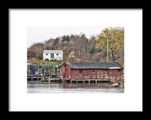 Architecture Framed Print featuring the photograph Long Island Maine by Richard Bean