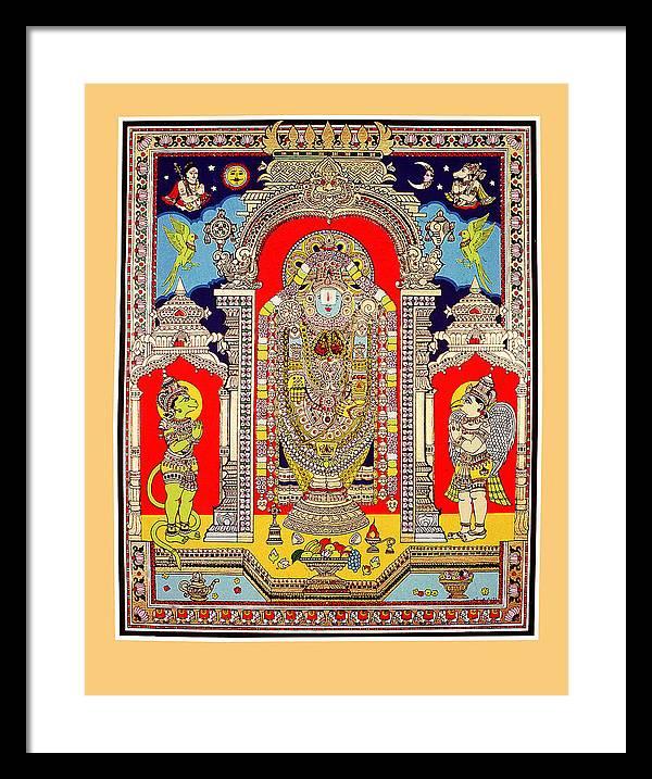 Lord Venkateswara Framed Print
