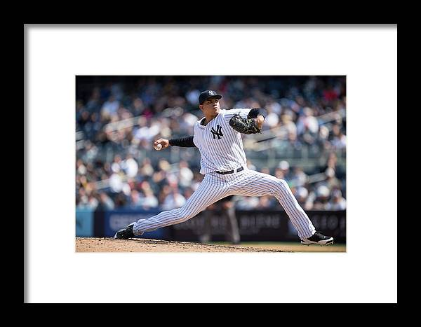 American League Baseball Framed Print featuring the photograph Los Angeles Angels Of Anaheim V New 1 by Rob Tringali