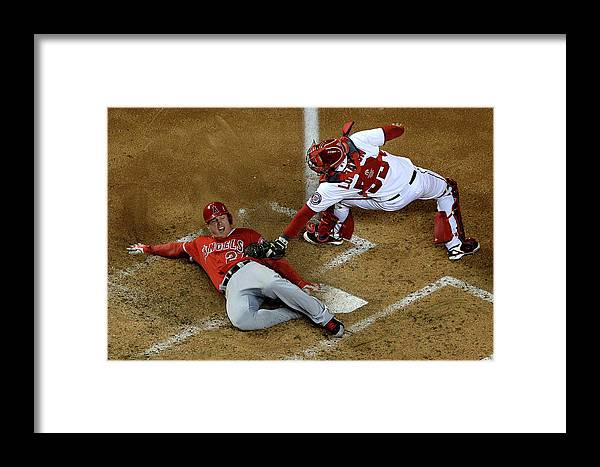 Baseball Catcher Framed Print featuring the photograph Los Angeles Angels Of Anaheim V 1 by Patrick Smith