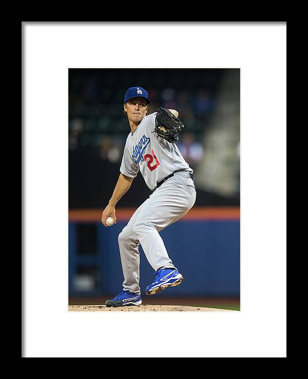 American League Baseball Framed Print featuring the photograph Los Angeles Dodgers V New York Mets 1 by Ron Antonelli