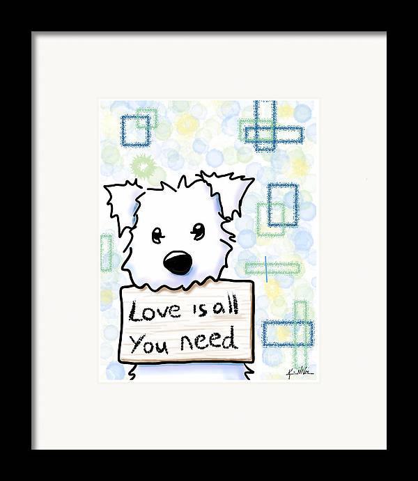 Ipad Painting Framed Print featuring the drawing Love Is All You Need by Kim Niles