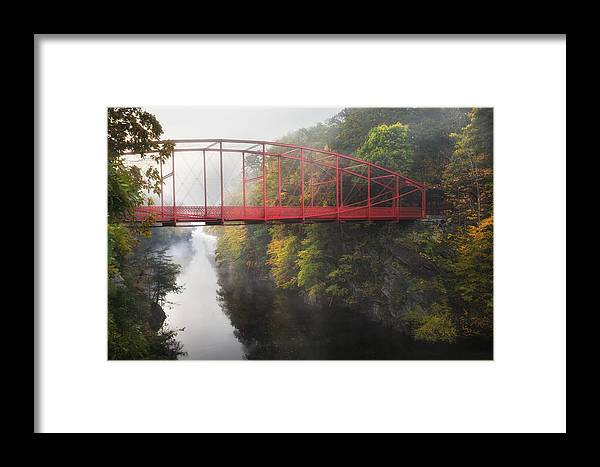 Lovers Leap Framed Print featuring the photograph Lovers Leap Bridge by Bill Wakeley