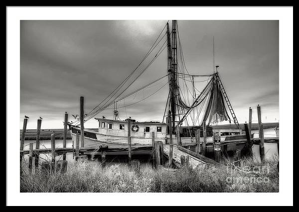Shrimp Boat Framed Print featuring the photograph Lowcountry Shrimp Boat by Scott Hansen