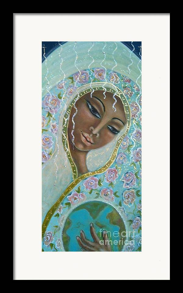 Visionary Art Framed Print featuring the painting Ma -first Sound In The Universe by Maya Telford