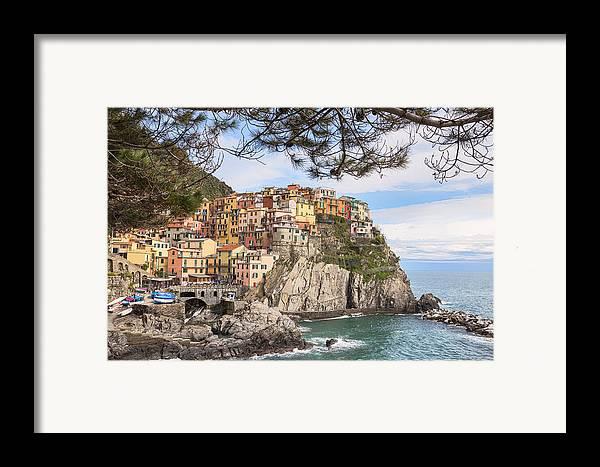 Manarola Framed Print featuring the photograph Manarola by Joana Kruse