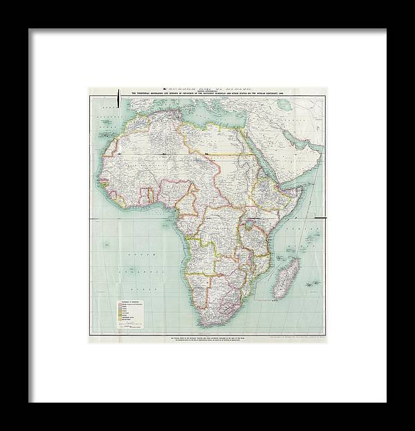 Framed Map Of Africa Map Of Africa Framed Print by Library Of Congress, Geography And
