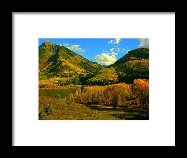 Aspen Framed Print featuring the photograph Marble Valley by Susan Thomas