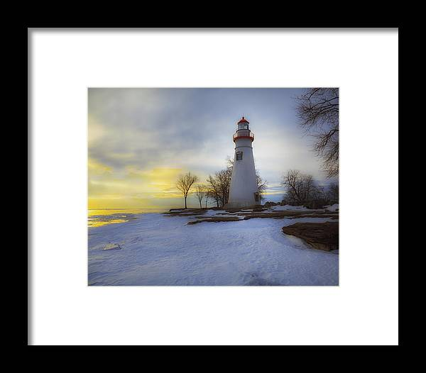 Erie Framed Print featuring the photograph Marblehead Lighthouse Lake Erie by Jack R Perry