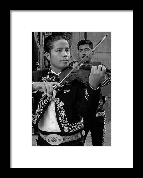 Music Framed Print featuring the photograph Mariachi-violin by Hugh Peralta