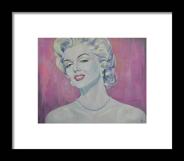 Marilyn Monroe Framed Print featuring the painting Marilyn by Elena Broach