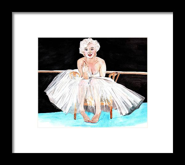 b9d64538c8f07 Marilyn Framed Print featuring the painting Marilyn Monroe Ballerina by  Marley Ungaro