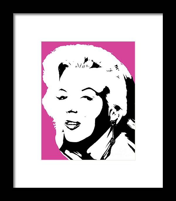 Marilyn Monroe Framed Print featuring the painting Marilyn Monroe by Juan Molina