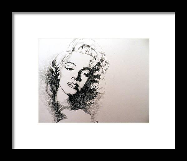 Marilyn Monroe Framed Print by Michael Damico