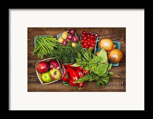 Local Framed Print featuring the photograph Market Fruits And Vegetables by Elena Elisseeva