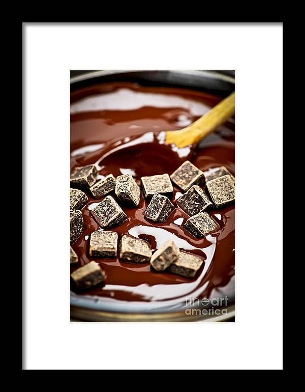 Chocolate Framed Print featuring the photograph Melting Chocolate 1 by Elena Elisseeva