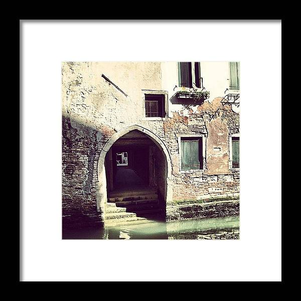 Europe Framed Print featuring the photograph #mgmarts #venice #italy #europe by Marianna Mills